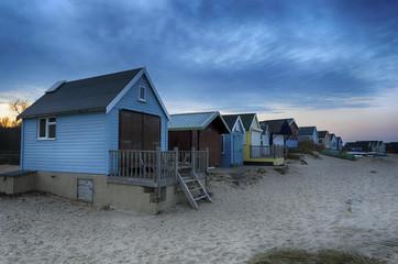 Beach Huts at Dusk