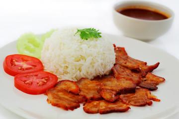 Roasted red pork.