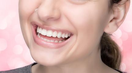 Beauty Healthy Smile. Sensual Lips. Natural Makeup