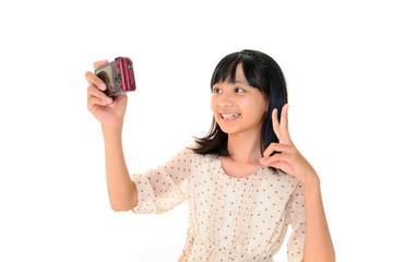 撮影を楽しむ女の子