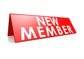 New member tag in red