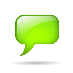 Vector rounded speech bubble