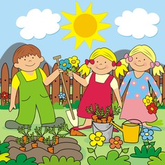 Kids and garden