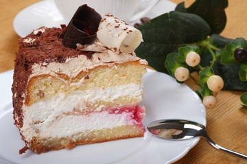 Cake of cottage cheese and chocolate