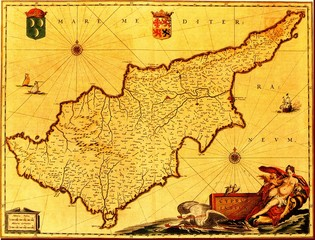 Cyprus old map