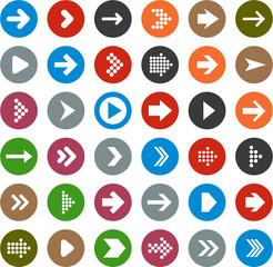 Flat arrow icons.