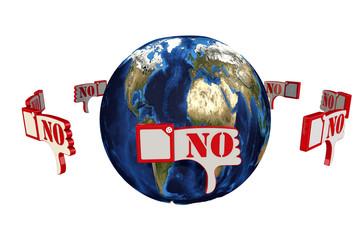 Земной шар и отрицательные отзывы