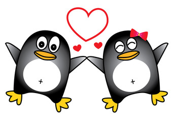 Dancing Penguin couple