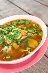 Hot and sour soup -  Tom - Yum thai food