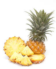 Pineapple isolated on the white background