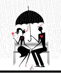 Rendezvous in the rain.