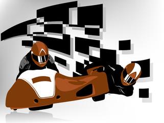 Wall Mural - Sidecar racer