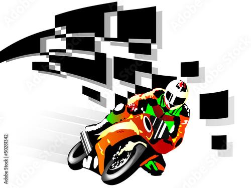 Wall mural Motorcycle racer