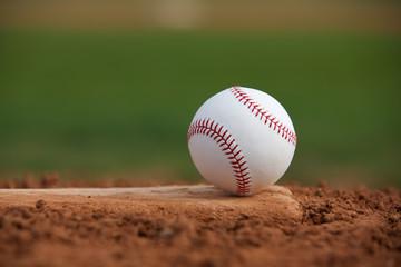 Baseball on the Pitchers Mound