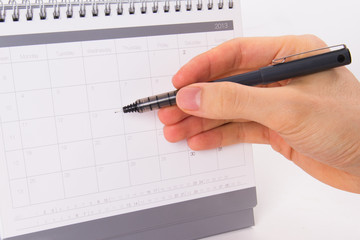 Pen and 2013 Desk Calendar