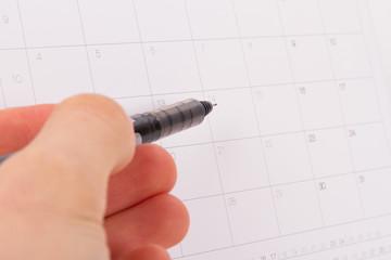 Pen and Event Calendar