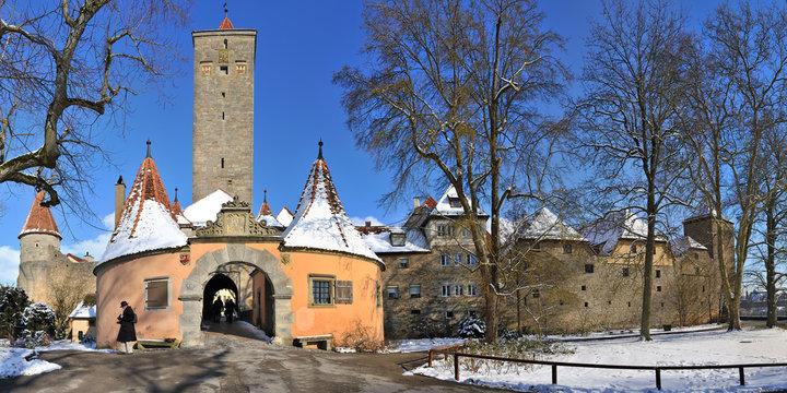 Panorama Burgtor Rothenburg ob der Tauber