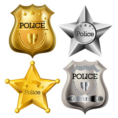 Police badge set