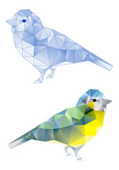 Deurstickers Geometrische dieren birds with geometric pattern