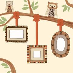 Three Empty Frames on Family Tree