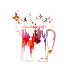 Colorful beer mug design