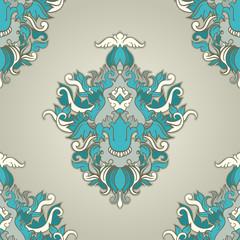 foliate blue pattern