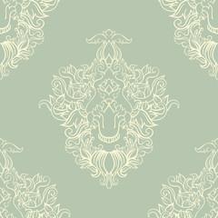 foliate green pattern
