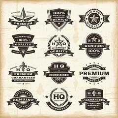 Obraz Vintage premium quality labels set - fototapety do salonu