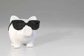Piggy bank - sunglasses