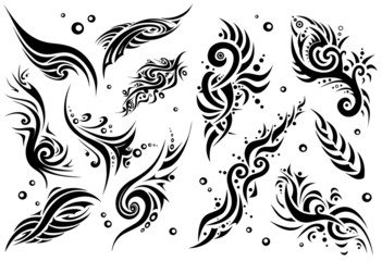 Set of 12 tribal tattoo (set 1)