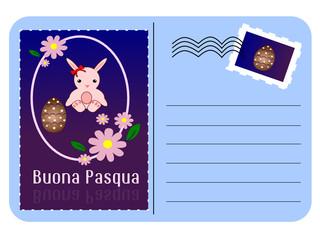 Cartolina per gli auguri di buona Pasqua