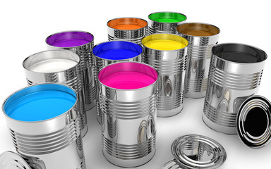 cans with color