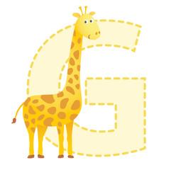 G is for Giraffe illustration