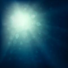 Blue burst - abstract lights background