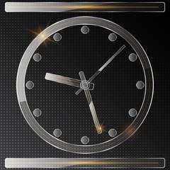 Glass clock vector icon