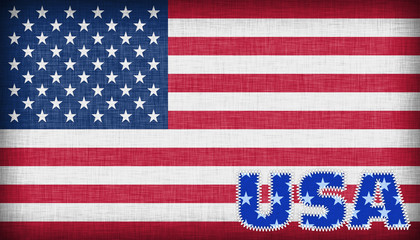 Flag of the USA isolated