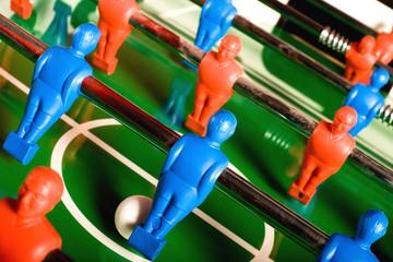 Foosball game close-up