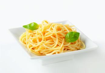 Cooked spaghetti