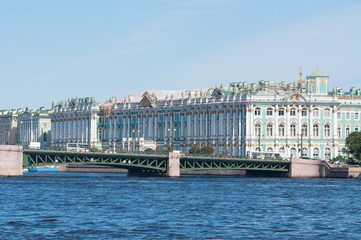 View of the Winter Palace in the summer in St. Petersburg