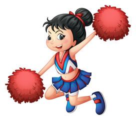 A cheerleader dancing