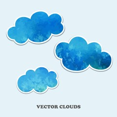 Fotorollo Himmel Vector clouds. Design Elements.