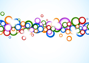 Background with colorful circles