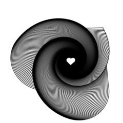 spirale fond coeur