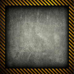 concrete background with warning stripes