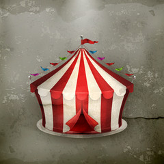 Circus, old-style vector