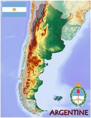 Argentine South America national emblem map symbol motto