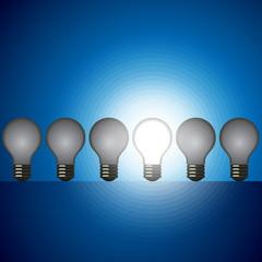 idea bulb set. leader concept