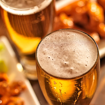 beer and wings at celebration