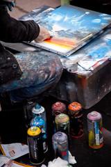 Artiste des rue en action
