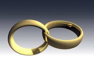 Gold Wedding Rings 3D
